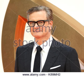 London, UK. 18th Sep, 2017. Colin Firth attends the world premiere of Kingsman: The Golden Circle at Leicester Square - Stock Photo