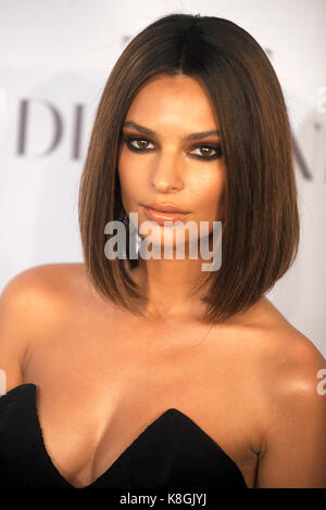Emily Ratajkowski attends Rihanna's 3rd Annual Diamond Ball Benefitting The Clara Lionel Foundation at Cipriani - Stock Photo