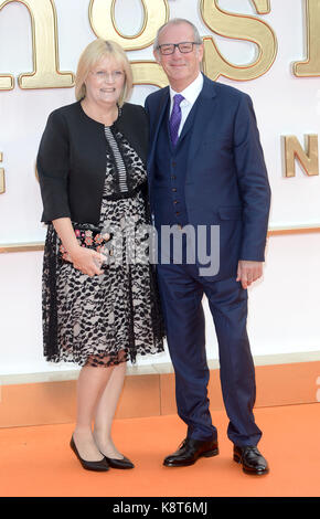 Photo Must Be Credited ©Alpha Press 078237 18/09/2017 David Gibbons and Guest at the Kingsman The Golden Circle - Stock Photo