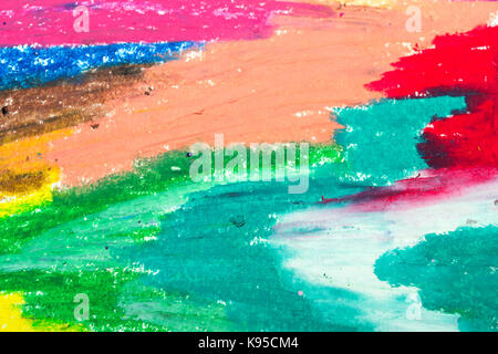 Photo of colorful drawing texture for background - Stock Photo