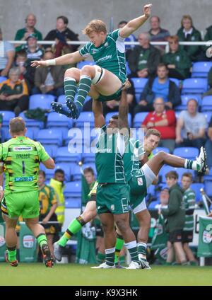 Reading, UK. 24th September, 2017. Aviva Premiership Rugby London Irish v Northampton Saints at The Madejski Stadium - Stock Photo