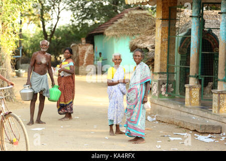 Unidentified Happy Indian People at their Village - Stock Photo