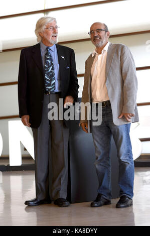 San Sebastian, Spain. 25th Sep, 2017. Jean-Michel Cousteau and Jean-Jacques Mantello attend the 'Wonder Of The Sea - Stock Photo