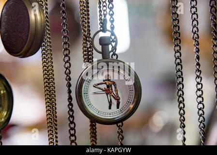An antique watch with image of the copper statue from Indus Valley civilization - Stock Photo