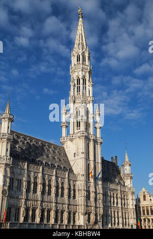 Town Hall of the City of Brussels, Belgium. - Stock Photo