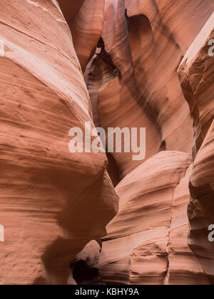 Natural looking of the Upper Antelope Canyon, Route 98, Arizona, AZ, USA: view inside the Upper Antelope Cayon, - Stock Photo
