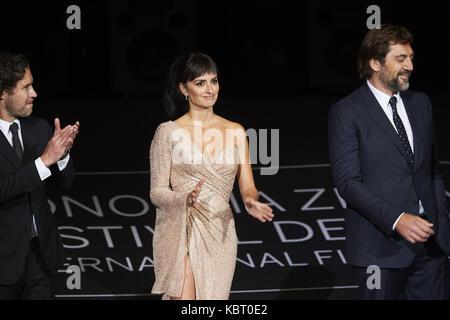 San Sebastian, Euskadi, Spain. 30th Sep, 2017. Penelope Cruz attends 'Loving Pablo' Premiere during 65th San Sebastian - Stock Photo