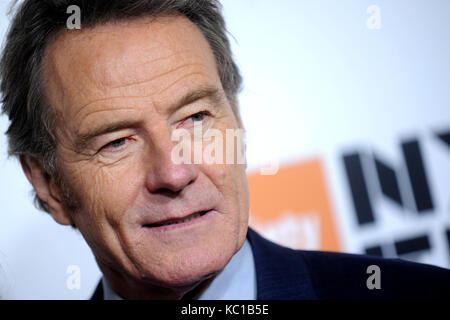 Bryan Cranston attends the 55th New York Film Festival with the 'Last Flag Flying' world premiere at Alice Tully - Stock Photo
