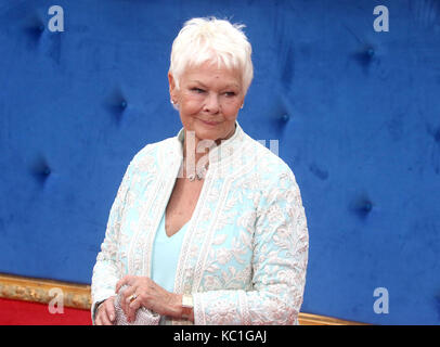 Sep 05, 2017 - Dame Judi Dench attending Victoria & Abdul UK Premiere, Odeon Leicester Square in London, England, - Stock Photo