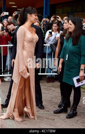 Penelope Cruz attends the 'Loving Pablo' premiere during the 65th Sebastian International Film Festival at Velodrome - Stock Photo