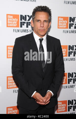 New York, NY, USA. 01st Oct, 2017. Ben Stiller attends the New York Film Festival screening of The Meyerowitz Stories - Stock Photo