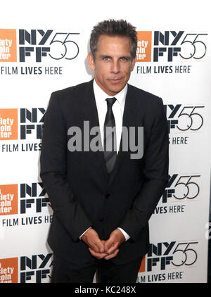 New York, New York, USA. 1st Oct, 2017. Actor BEN STILLER attends the 55th New York Film Festival premiere of 'The - Stock Photo