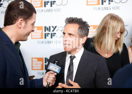 New York, USA. 01st Oct, 2017. Ben Stiller attends the North American Premiere of The Meyerowitz Stories during - Stock Photo