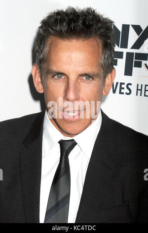Ben Stiller attends 'The Meyerowitz Stories' premiere during the 55th New York Film Festival at Alice Tully Hall - Stock Photo