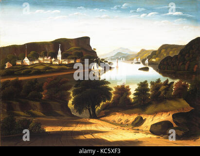 Lake George and the Village of Caldwell, Thomas Chambers, ca. 1850s - Stock Photo