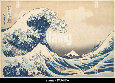 Under the Wave off Kanagawa (Kanagawa oki nami ura), or The Great Wave, from the series Thirty-six Views of Mount - Stock Photo
