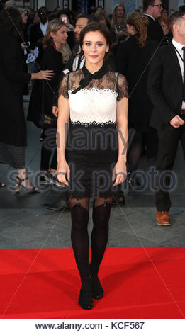 London,Great Britain. October 4th, 2017. UNITED KINGDOM: Actress Bella Dayne attends the European Premiere of 'Breathe' - Stock Photo