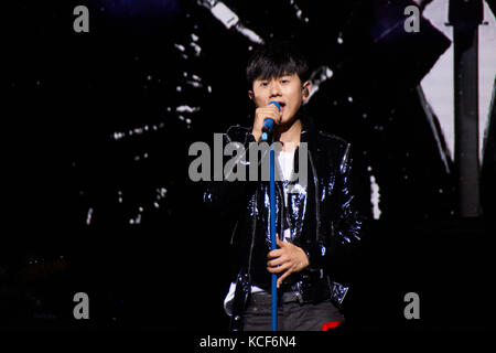 London, UK, 4th October, 2017. Zhang Jie concert at the O2 Indigo as part of the Sound of My Heart World Tour. Credit: - Stock Photo