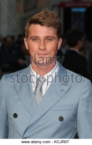 London, UK. 5th Oct, 2017. Garrett Hedlund attends the Royal Bank of Canada Gala & European Premiere of 'Mudbound' - Stock Photo
