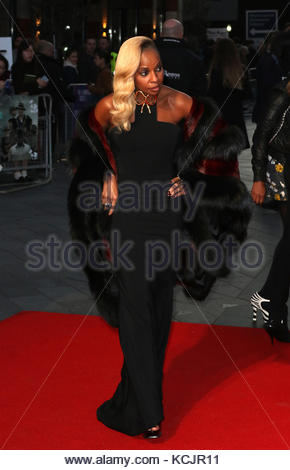 London, UK. 5th Oct, 2017. Mary J Blige attends the Royal Bank of Canada Gala & European Premiere of 'Mudbound' - Stock Photo