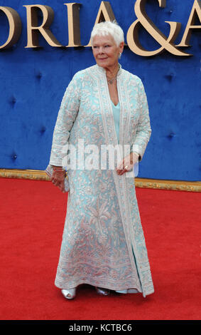 The UK Premiere of 'Victoria & Abdul' held at the Odeon Leicester Square  Featuring: Dame Judi Dench Where: London, - Stock Photo