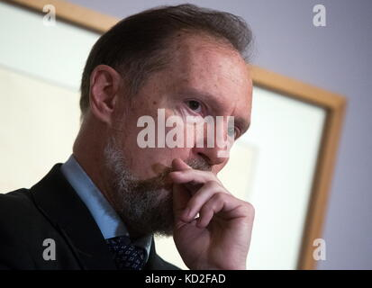 Moscow, Russia. 9th Oct, 2017. Senior researcher at the Department of the 19th and 20th centuries' European and - Stock Photo