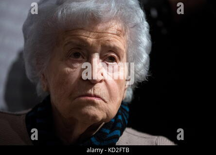 Moscow, Russia. 9th Oct, 2017. President of Moscow's Pushkin State Museum of Fine Arts, Irina Antonova, attends - Stock Photo