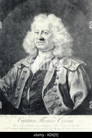Thomas Coram, philanthropic sea captain who took a leading part in the foundation of the Foundling Hospital, 1688 - Stock Photo