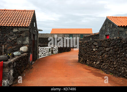 Typical village of the Azores, island Pico - Stock Photo