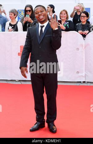 42nd Toronto International Film Festival - 'Mudbound' - Premiere  Featuring: Jason Mitchell Where: Toronto, Canada - Stock Photo