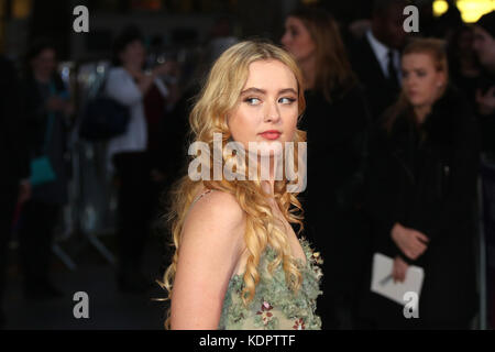 London, UK. 15th Oct, 2017. Kathryn Newton, Three Billboards Outside Ebbing, Missouri - BFI LFF Closing Gala, Leicester - Stock Photo