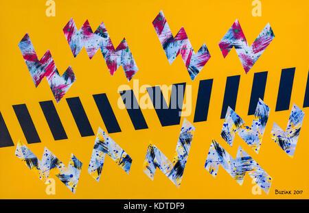Abstract artwork by Ed Buziak. - Stock Photo