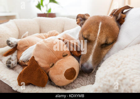 couple of loving friends in bed close together - Stock Photo