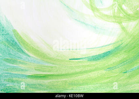 Green creative abstract hand painted background, wallpaper, texture, acrylic painting on canvas. Modern art. Contemporary - Stock Photo