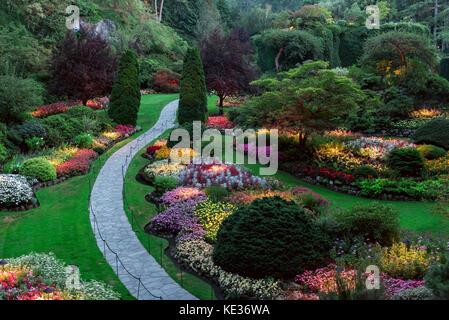 Butchart Gardens Victoria Vancouver Island British Columbia Stock Photo Royalty Free Image