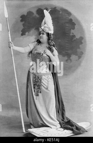 Félia Litvinne as Brünnhilde in Richard Wagner 's opera Die Walküre (The Valkyrie) One of the 4 operas in Der Ring - Stock Photo