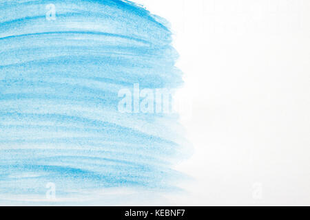 Blue creative abstract hand painted background, wallpaper, texture, acrylic painting on canvas. Modern art. Contemporary - Stock Photo