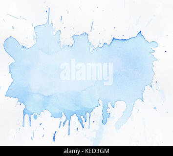 Abstract painted watercolor background on paper texture. - Stock Photo