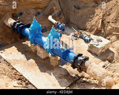 Big Gate Valve In The Plant Irrigation Of Cultivated