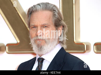 Sep 18, 2017 - Jeff Bridges attending 'Kingsman: The Golden Circle' World Premiere, Leicester Square in London, - Stock Photo