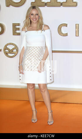 Sep 18, 2017 - Kylie Minogue attending 'Kingsman: The Golden Circle' World Premiere, Leicester Square in London, - Stock Photo