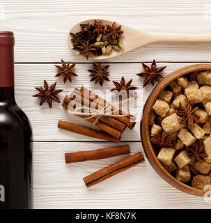 spices for mulled wine - Stock Photo
