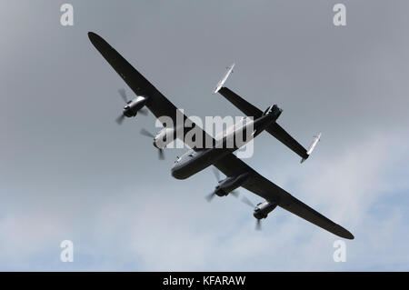 UK - Royal Airforce Avro 683 Lancaster B-1 in the flying-display at RIAT 2007 - Stock Photo