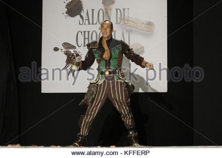 Paris, France. 27th Oct, 2017. TV host Laurent Maistret attends the 23nd Chocolate Fair (Salon du Chocolat) fashion - Stock Photo