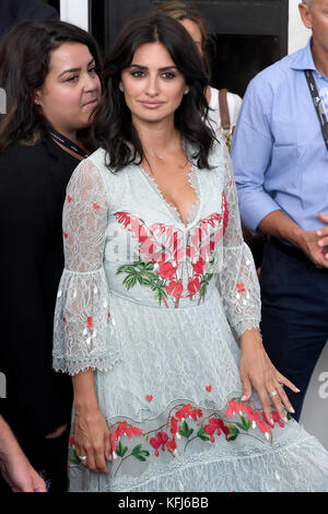 Spanish actress Penelope Cruz attends the photocall for Loving Pablo during the 74th Venice Film Festival in Venice, - Stock Photo