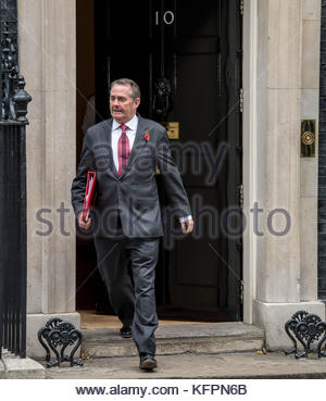 Great Britain. October 31st, 2017. UNITED KINGDOM, London: British Secretary of State for International Trade Liam - Stock Photo