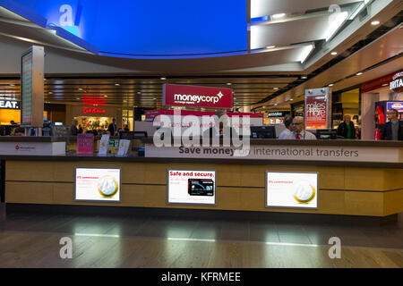 money exchange kiosk at an airport departure lounge stock photo royalty free image 71022042