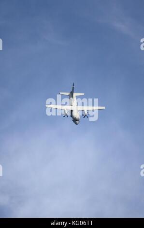ROME - JUNE 29: Italian Air Force Alenia Aermacchi C-27j Spartan performs at the Rome International Air Show on - Stock Photo