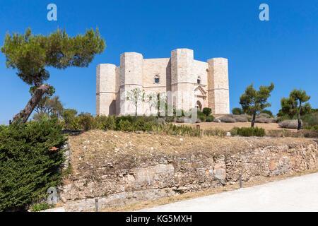 Castel del Monte, Barletta, Andria, Trani district, Apulia, Italy - Stock Photo