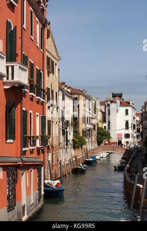 italy venice ponte de la chiesa pretty bridge with steps hanging stock photo royalty free. Black Bedroom Furniture Sets. Home Design Ideas
